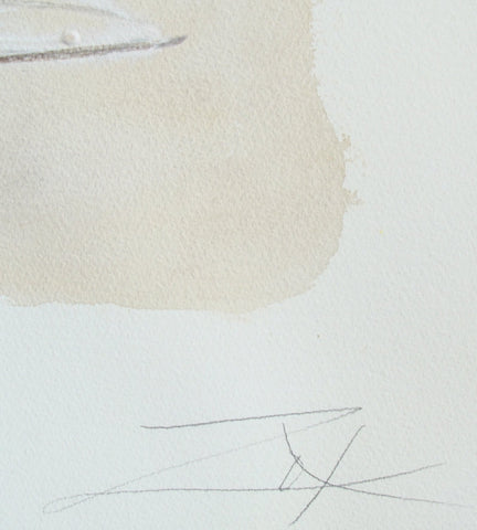 Larry Zox (American, 1936-2006), Untitled (Beige), mixed media on paper, signed