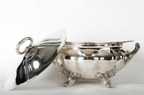 Silver-plated Covered Soup Tureen, late 19th century/early 20th century