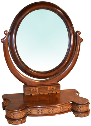Victorian Inlaid Dressing Table Mirror, ca. 1860-80