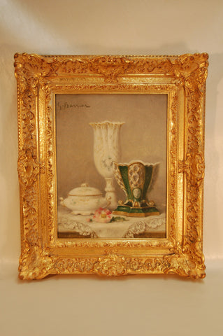 G. Bazzier (Continental, 20th century), Still life, oil on canvas, signed
