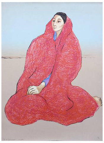 R.C. Gorman (Native American/Navajo, 1931-2005), Grace, 1979, lithograph in colors, signed, ed. 150