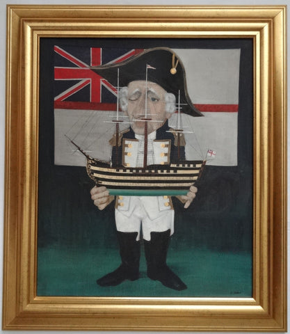"Eugene Dobos (American, b. 1933), ""Admiral Nelson"", oil on canvas, signed"