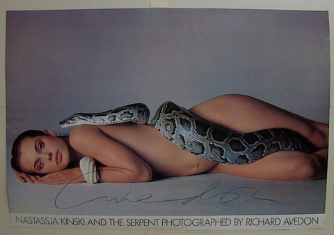 After Richard Avedon (American, 1923-2004), Nastassja Kinski and the Serpent, Los Angeles, California, offset lithograph poster, signed