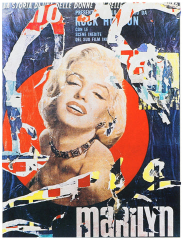 "Mimmo Rotella (Italian, 1918-2006), ""Marilyn 3"", 1979, screenprint, signed and dated, ed. 300"