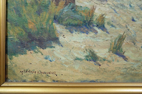 Melbourne Hardwick (American, 1857-1916), Dune Landscape, oil on canvas, signed