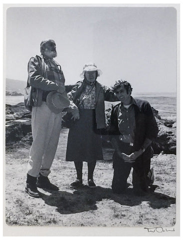 "Ted Orland (American, Contemporary), ""Ansel Adams and Imogen Cunningham Awarding Jerry Uelsmann The Title Of 'Honorary West Coast Photographer' At Weston Beach, Point Lobos"", 1969, gelatin silver print, signed"
