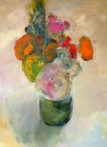 "Marc Whitney (American, b. 1955), ""Large Floral Bouquet"", oil on canvas, signed"