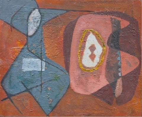 Melville Price (American, 1920-1970), Untitled (Biomorphic Abstraction), ca. 1944-45, oil on masonite