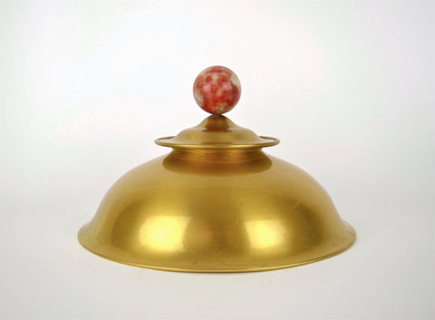Large Gilded Inkwell with Stone Finial, Marie Zimmermann (American, 1879-1972), ca. 1930s