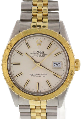 Men's Rolex Two Tone Turn-O-Graph Thunderbird Perpetual Datejust 16253