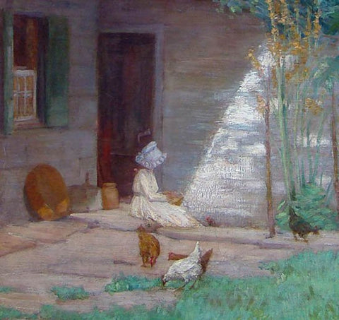 Anna Lee Stacey (American, 1865-1943), Courtyard Scene, 1899, oil on canvas, signed