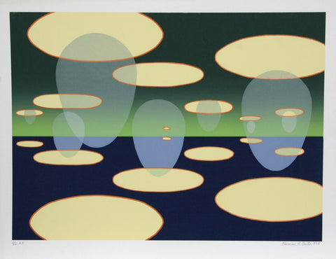 "Clarence Holbrook Carter (American, 1904-1998), ""Eschantos 31"", 1978, screenprint, signed"