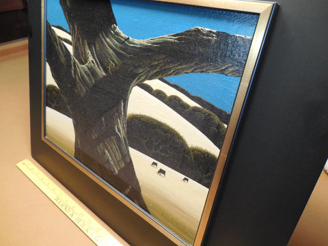 "Eyvind Earle (American, 1916-2000), ""Large Oak"", oil on canvas, ca. 1969, signed"