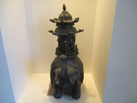Japanese Bronze Elephant Form Koro, Meiji period (1868-1912)