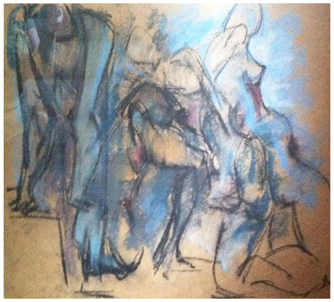 Hans Gustav Burkhardt (American, 1904-1994), Untitled (Nudes), 1959, pastel and pencil on paper, signed