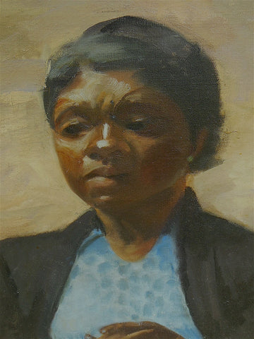 Virginia Goldberg (American, 1914-2011), Untitled (Portrait), oil on canvas, signed