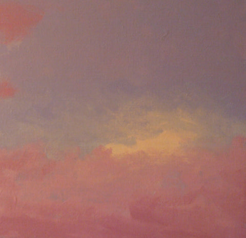 Brian Sindler (American, b. 1957), Pink Sky, oil on canvas, signed with initials