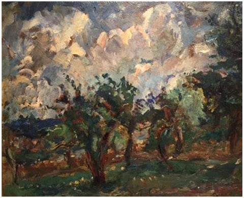Michel Kikoine (French, 1892-1968), Untitled (Landscape), oil on canvas, signed