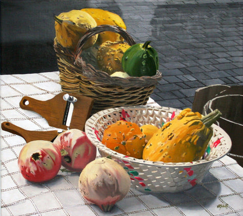 "Mark Schiff (American, b. 1954), ""Gourds"", 2004, oil on canvas, signed"