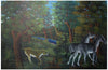 Saint Louis Blaise (Haitian, 1956-1995), Jungle Landscape, 1977, oil on board, signed