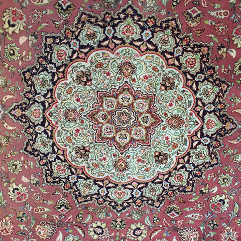 Persian Tabriz Rug, silk and wool, northwest Iran, 3rd quarter 20th century
