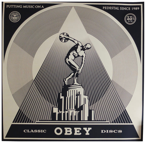 "Shepard Fairey (American, b. 1970), ""Classic Discs"", 2014, screenprint on varnished wove paper, signed, ed. 50"