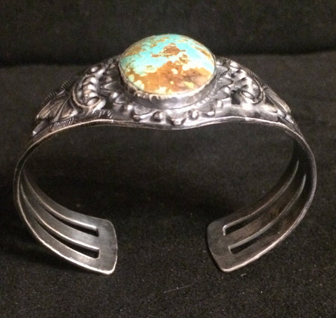 Navajo Silver and Turquoise Cuff, Fred Harvey era, ca. 1930s