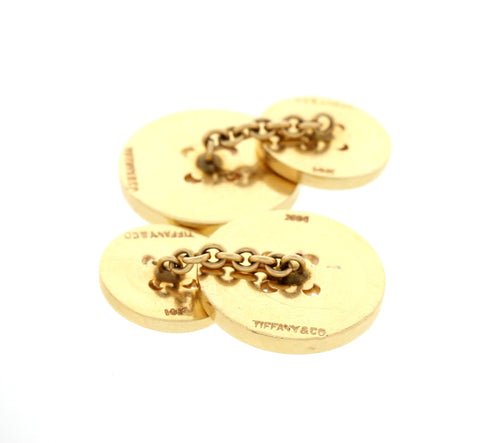 Men's 14K Yellow Gold Button Cufflinks, Tiffany & Co.