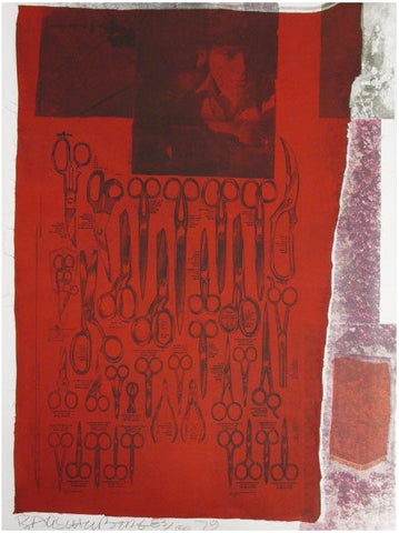 "Robert Rauschenberg (American, 1925-2008), More Distant Visible Part of the Sea, from ""Suite of Nine Prints,"" 1979, screenprint in colors, signed and dated, ed. 100"