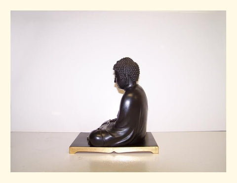 Japanese Seated Figure of the Buddha, patinated bronze, late Meiji (1868-1912) to Taisho period (1912-1926)