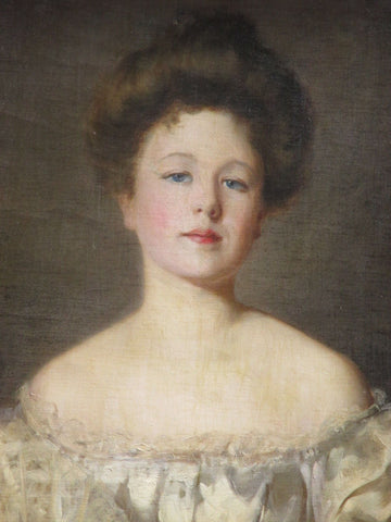 James Dick Peddie (Irish, 19th century), Portrait of a lady, oil on canvas