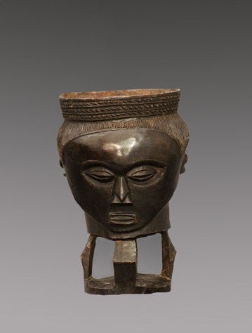 Kuba Cup, wood with a rich patina, Democratic Republic Congo, early 20th century