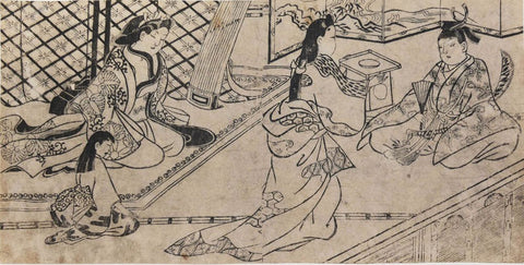 Hishikawa Moronobu (Japanese, ca. 1620-1694), The Young Lord Coming-of -Ceremony, ca. 1680, woodblock print