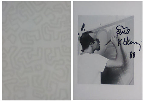 "Keith Haring (American, 1958-1990), ""Baby - Remarque "", 1988, lithograph on paper, silver gelatin print, ink, signed"
