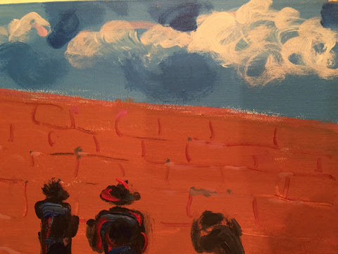 Peter Max (American, b. 1937), The Wailing Wall, 1989, oil on canvas, signed