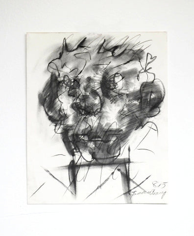 Robert Beauchamp (American, 1923-1995), Untitled (Head), 1985, charcoal, pencil and wash on paper