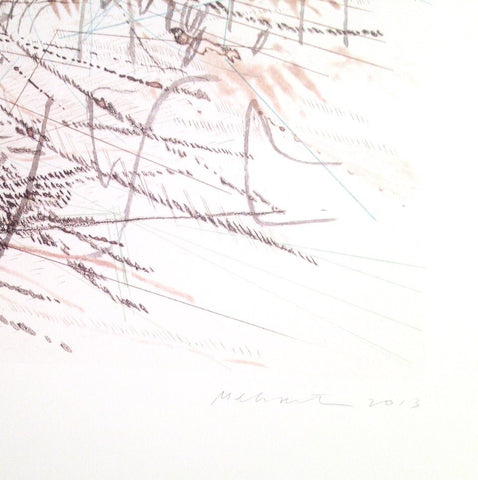 Julie Mehretu (American, b. 1970), Untitled (Pulse), 2013,  lithograph in colors, signed, ed. 100
