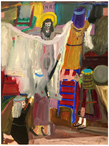 "Frederick J. Brown (American, 1945-2012), ""Descent from the Cross"", 1983, oil on canvas, signed"