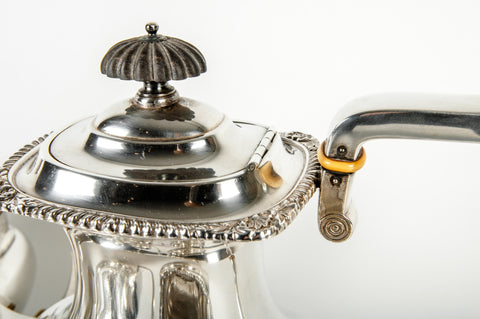 Georgian Style Silver Tea and Coffee Set, International Silver Co., Meriden, Connecticut, in the Lord Robert pattern, early 20th century