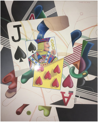 Yankel Ginzburg (Russian/Israeli/American, b. 1945), Black Jack, 1982, acrylic on canvas, signed