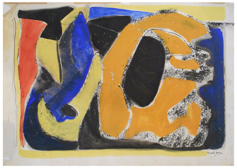 Beatrice Mandelman (American, 1912-1998), Untitled (#13), mixed media on paper, signed