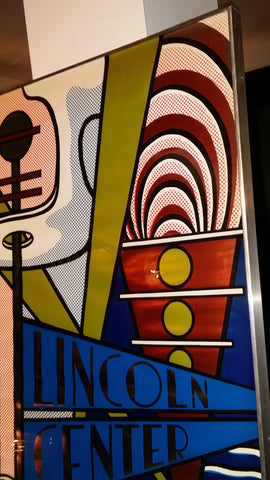 Roy Lichtenstein (American, 1923-1997), Lincoln Center Poster, 1966, screenprint on silver foil (Corlett 41)