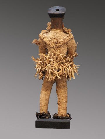 Pende Dancer, wood, pigment, fiber and seed pods, Democratic Republic Congo, early 20th century