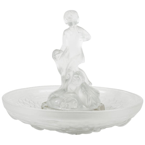 Daum Molded and Frosted Glass Centerpiece, France, ca. early 1900s