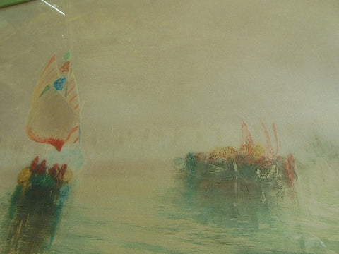 Richard Ranft (Swiss/French, 1862-1931), Boats in the fog, Venice, monotype, signed