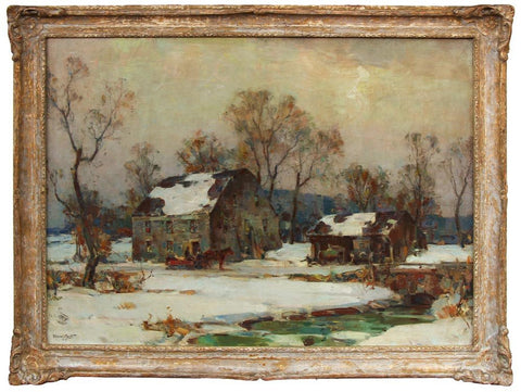 "Walter Granville Smith (American, 1870-1938), ""Winter"", 1933, oil on canvas, signed"