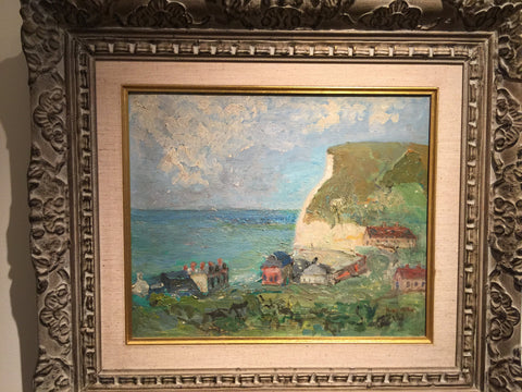 Michel Kikoine (French, 1892-1968), Normandie Etretat (Coastal Landscape), oil on canvas, signed