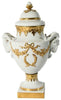 English Porcelain and Gilt Lidded Vase, early 20th century