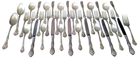 American Sterling Silver Flatware, Alvin Corp., Providence, ca. 1940-91, in the Chateau Rose pattern