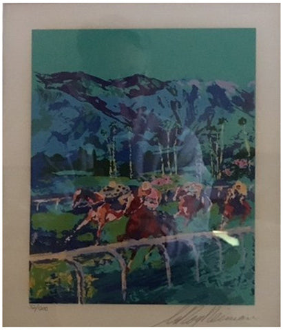 "LeRoy Neiman (American, 1921-2012), ""Santa Anita,""  screenprint in colors, 1979, from the deluxe edition of ""LeRoy Neiman: Horses"" (Abrams/Hammer Galleries), signed, ed. 1200"